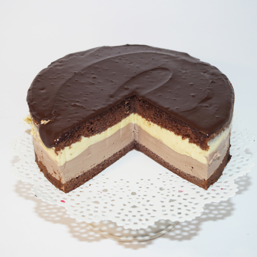 Tort Crem Brule cu ciocolata